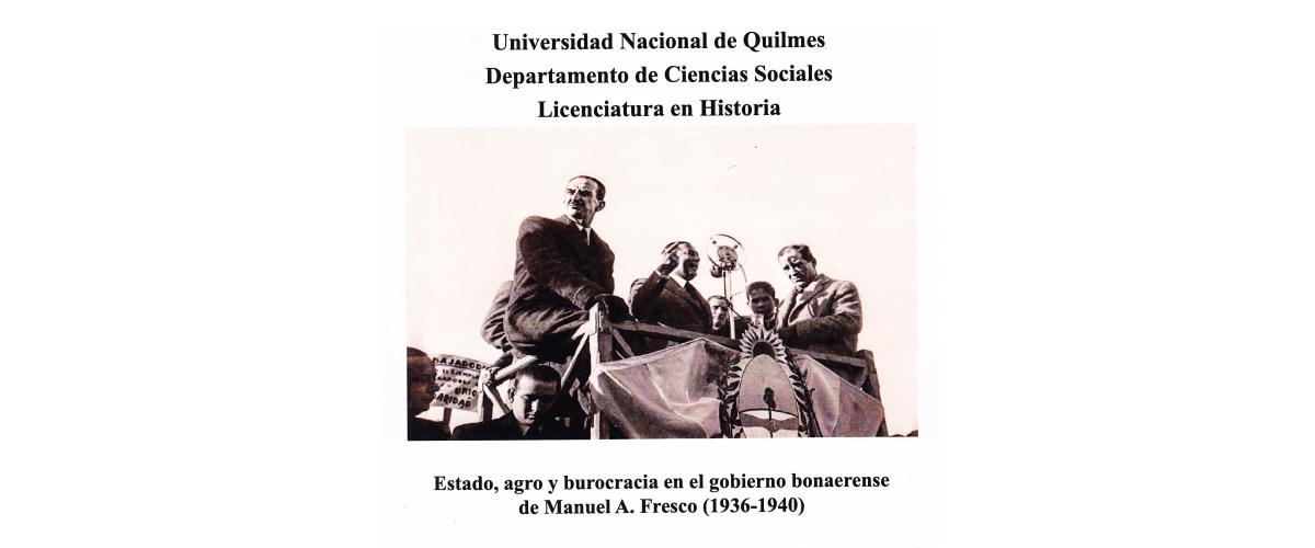 Defensa de tesina de Historia