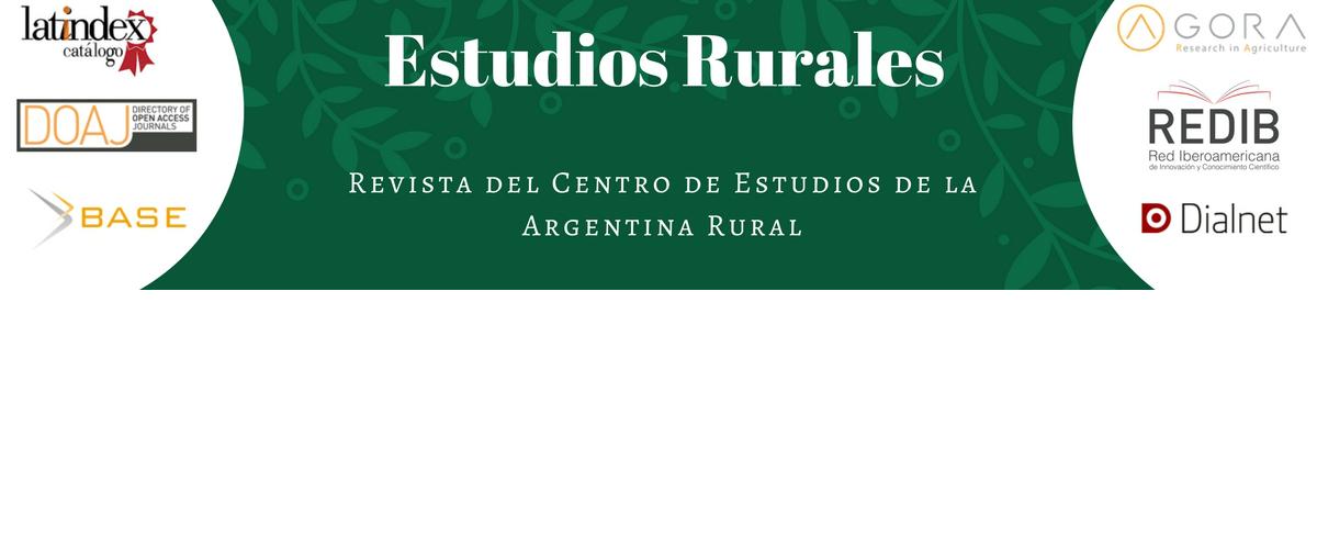 REVISTA ESTUDIOS RURALES. NOVEDADES Y CONVOCATORIA