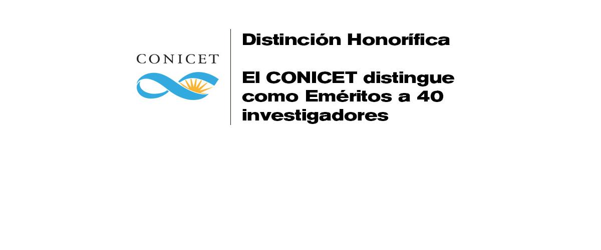 RECONOCIMIENTO DE CONICET